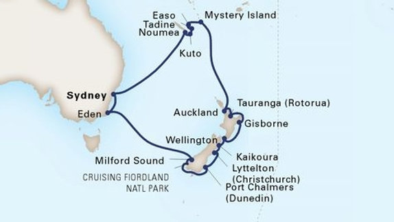 Maasdam * Sep-26-2019 * Sydney to Sydney * 21 nights