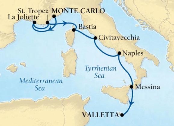 Seabourn Ovation * Oct-30-2019 * Monte Carlo to Valletta * 7 Nights