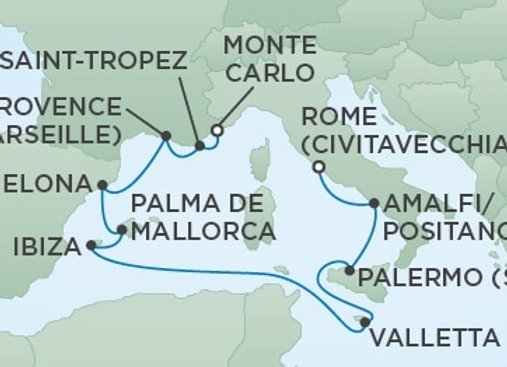 Seven Seas Voyager * Aug 4,-2020 * Rome to Monte Carlo * 10 Nights