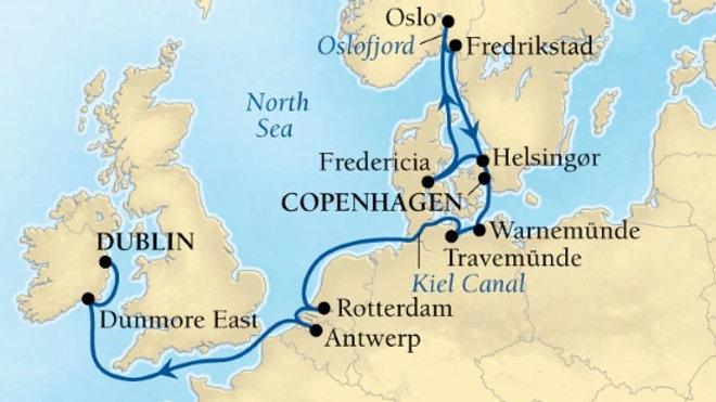Seabourn Ovation * Aug-31-2019 * Copenhagen to Dublin * 14 nights