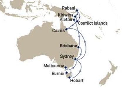 Cunard sailing onQueen Elizabeth Feb 19,2020 -  21 nights