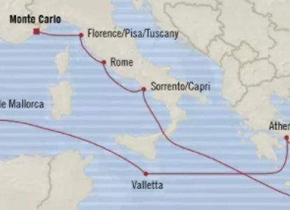 Oceania - 11/Nov/19 - 12 nights - Monte Carlo, Monaco