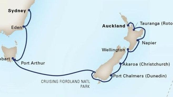 Noordam * Dec-21-2019 * Auckland to Sydney * 14 nights