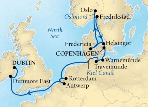 Seabourn Ovation * Aug-31-2019 * Copenhagen to Dublin * 14 Nights