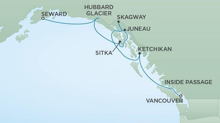 Seven Seas Mariner * Aug 19,-2019 * Anchorage (Seward) to Vancouver * 7 nights