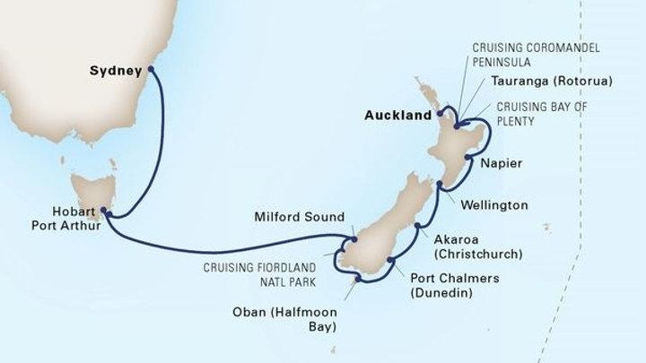 Maasdam * Feb 16,-2020 * Sydney to Auckland * 14 nights