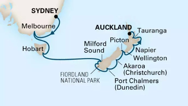 Noordam * Nov-09-2019 * Sydney to Auckland * 14 nights