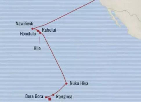 Oceania Apr 14,/20 - 18 nights - Papeete, Tahiti, Society Islands