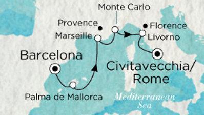 Crystal Serenity * Oct-03-2019 * Barcelona to Rome (Civitavecchia) * 7 nights