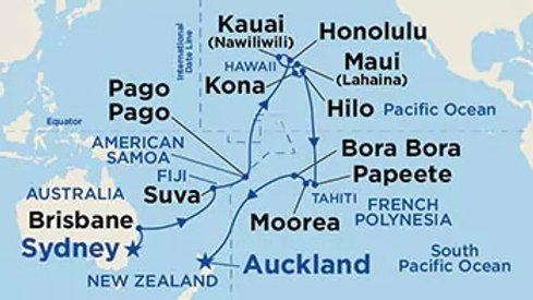 Sea Princess * Apr 7,-2020 * Sydney to Auckland * 31 nights