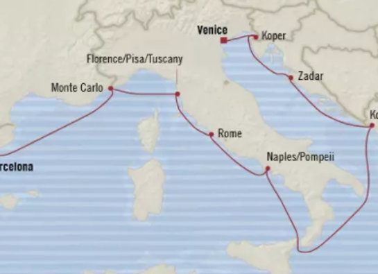 Nautica * Oct-28-2019 * Barcelona to Venice * 10 Nights