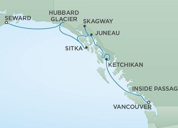 Seven Seas Mariner * Jul 15,-2020 * Vancouver to Anchorage (Seward) * 7 Nights
