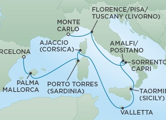 Seven Seas Voyager * Jul 6,-2020 * Monte Carlo to Barcelona * 10 Nights