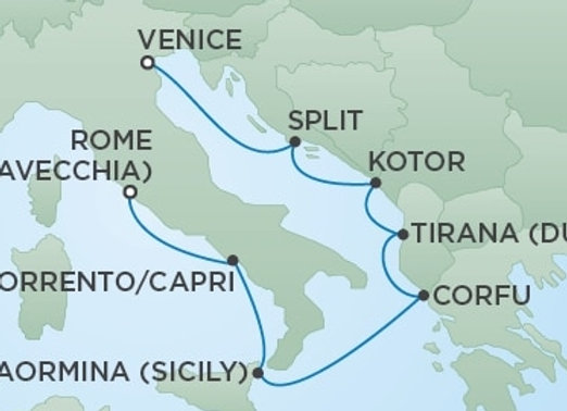 Seven Seas Voyager * Jul 28,-2020 * Venice to Rome (Civitavecchia) * 7 Nights