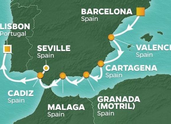 Azamara Pursuit * Nov-04-2019 * Barcelona to Lisbon * 9 Nights