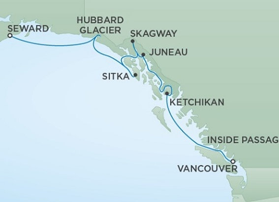 Seven Seas Mariner * Jul 1,-2020 * Vancouver to Anchorage (Seward) * 7 Nights