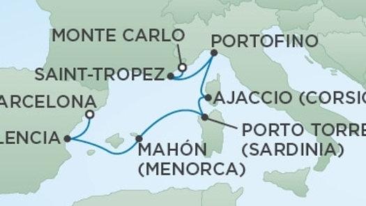 Seven Seas Voyager * Aug 14,-2019 * Monte Carlo to Barcelona * 7 nights