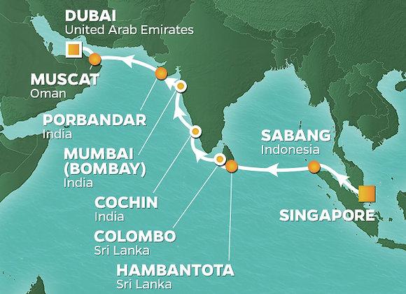 Azamara Quest * Nov-12-2019 * Singapore to Dubai * 17 Nights