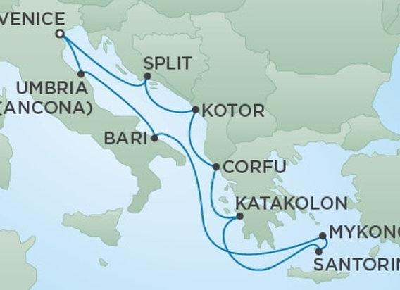 Seven Seas Voyager * Jun 14,-2020 * Venice to Venice * 10 Nights