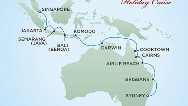 Seven Seas Voyager * Dec-20-2019 * Singapore to Sydney * 18 nights