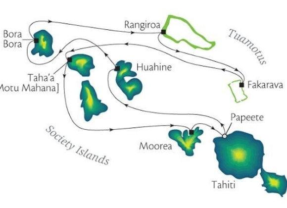 10 Nights - DEPARTS - Nov/19 - Papeete, Tahiti, Society Islands