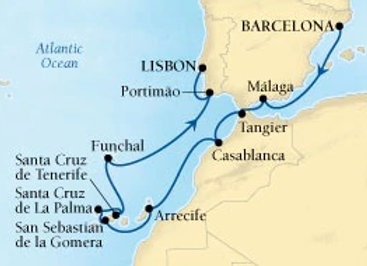 Seabourn Odyssey * Oct-19-2019 * Barcelona to Lisbon * 14 Nights