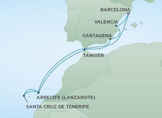 Seven Seas Explorer * Apr 17,-2020 * Barcelona to Barcelona * 10 Nights