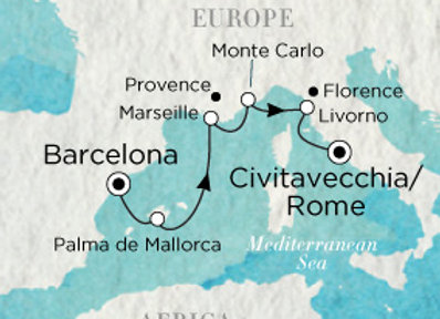 Crystal Serenity * Oct-03-2019 * Barcelona to Rome (Civitavecchia) * 7 Nights