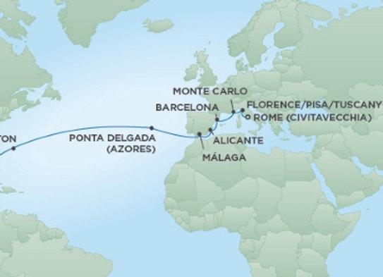 Seven Seas Mariner * Apr 29,-2020 * Rome (Civitavecchia) to Miami * 18 Nights