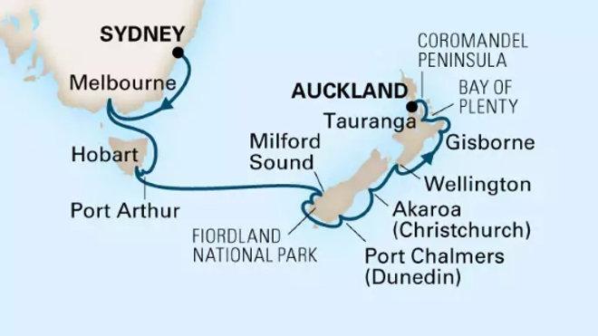 Noordam * Feb 26,-2019 * Sydney to Auckland * 15 nights