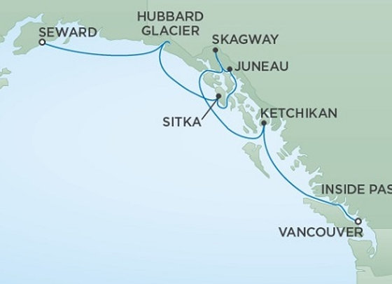 Seven Seas Mariner * Aug 19,-2020 * Anchorage (Seward) to Vancouver * 7 Nights