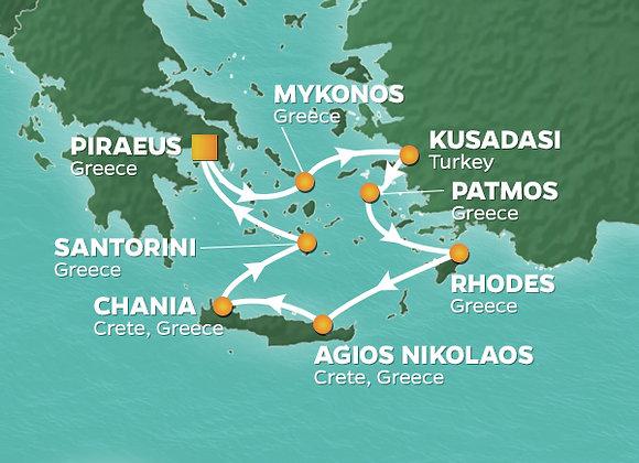 Azamara Journey * Oct-19-2019 * Athens (Piraeus) to Athens (Piraeus) * 8 Nights