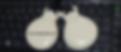 Un par de castañuelas sobre el teclado del ordenaor