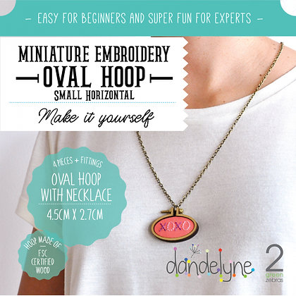 Dandelyne Small Oval Hoop with Necklace DL0018