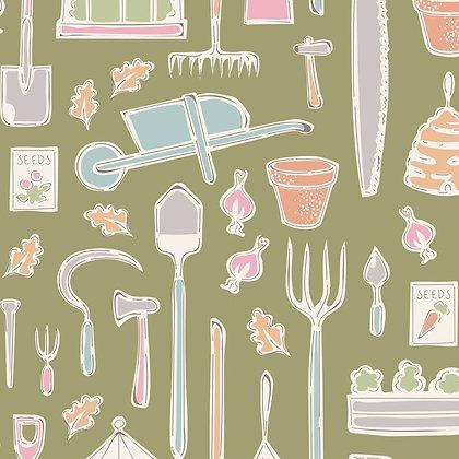 Tilda Tiny Farm - Farm Tools Green 10021