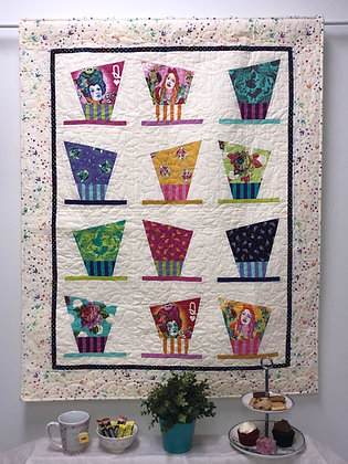 Sewalicious Baker - Hatazzeled Tea Party Wall Quilt PDF Pattern