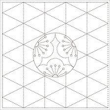 Sashiko Cloth - Ume-Mon - Y0009