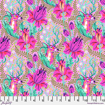 Tula Pink - Tiny Beasts - Deer John PWTP178.Glimmer