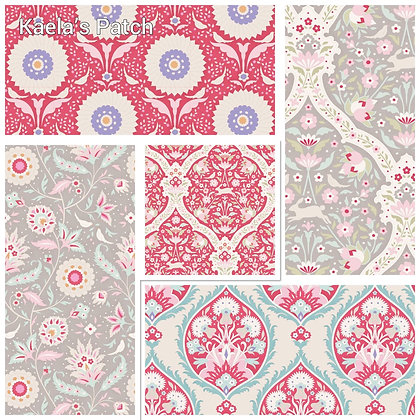 Tilda Bon Voyage Colourway C Fat Quarter Bundle