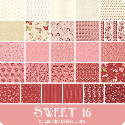 Sweet 16 by Laundry Basket Quilts Full Half Metre Bundle