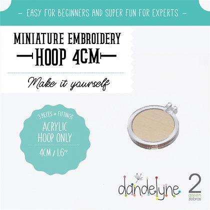 Dandelyne 4cm Acrylic Hoop Clear DL0200