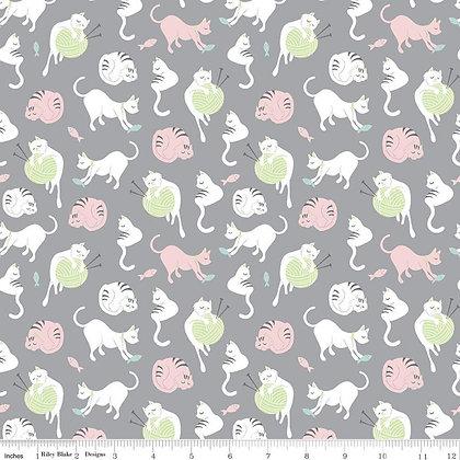 Riley Blake Fabric - Purrfect Day - C9901.Gray