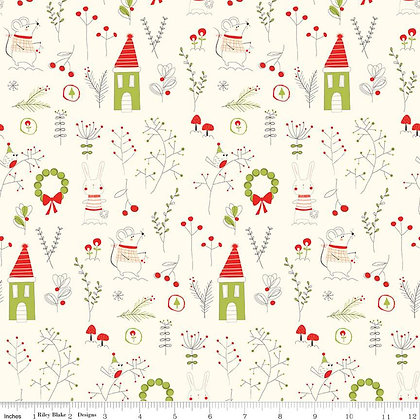 Merry Little Christmas by Riley Blake C9640 Cream