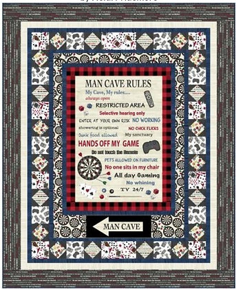 Windham Fabrics - Man Cave - My Cave My Rule Quilt Kit