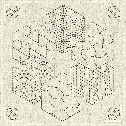 Sashiko Cloth - Kaza-Guruma2 -KF2020-12