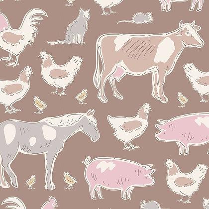 Tilda Tiny Farm - Farm Animals Brown 10010