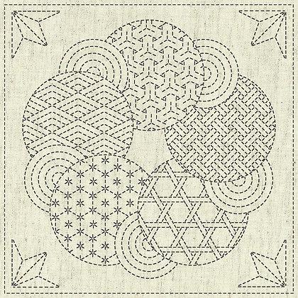 Sashiko Cloth - Kaza-Guruma3 -KF2020-15