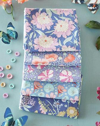 Tilda Gardenlife Collection - Fat Quarter Bundle Blue