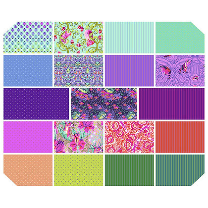 Tula Pink - Tiny Beasts Collection - Glimmer Half MeterBundle