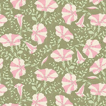 Tilda Gardenlife Collection -100313 Striped Petunia Green